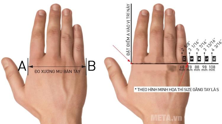 Cách đo size găng tay.