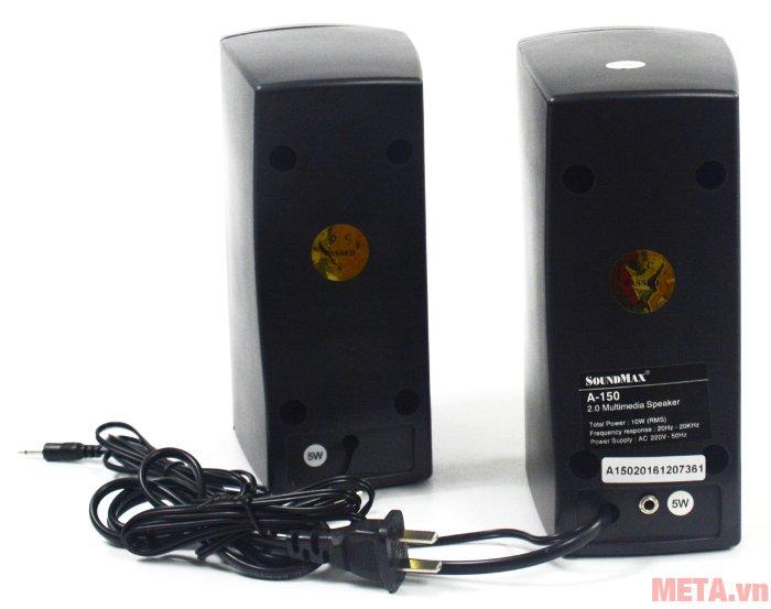 Loa vi tính SoundMax A150 sử dụng điện áp 220V - 50Hz