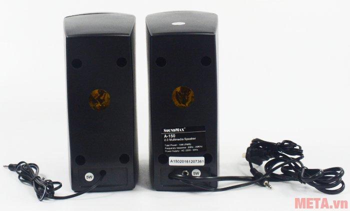 Loa vi tính SoundMax A150 có tổng công suất 10W