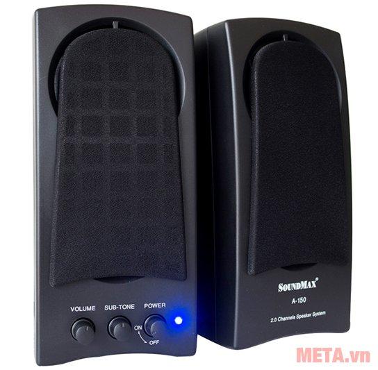 Loa vi tính SoundMax A150 có đèn báo khi hoạt động