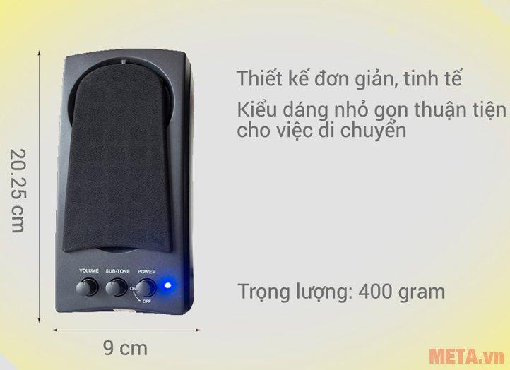 Loa vi tính SoundMax A150 gọn nhẹ