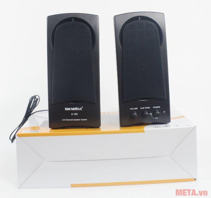 Loa vi tính SoundMax A150 đựng trong hộp bìa cứng sang trọng