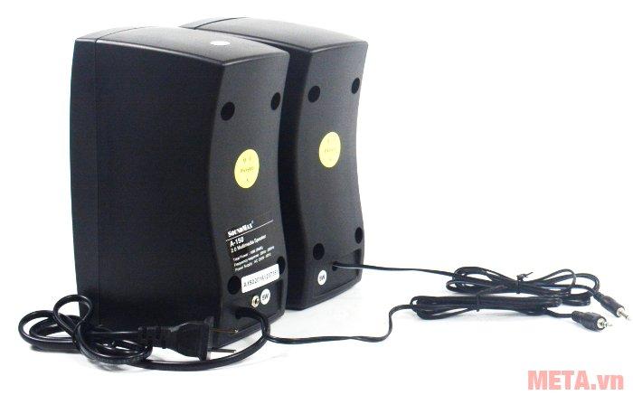 Loa vi tính SoundMax A150 thiết kế thùng loa bằng nhựa