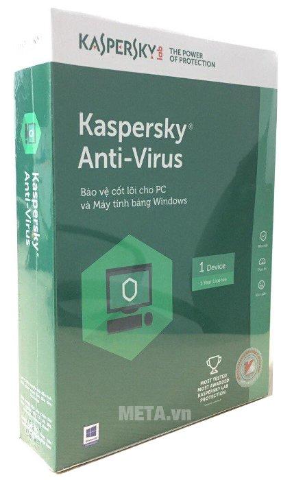 Kaspersky Anti-Virus sử dụng cho 1 máy/1 năm
