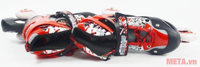 Bên trong giầy trượt patin Long Feng 906 New có các lớp đệm lót êm ái