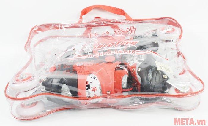 Khung giầy trượt patin Long Feng 906 kèm túi đựng có quai xách