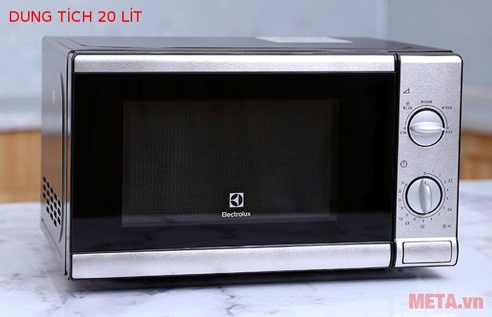 Lò vi sóng Electrolux EMM2026MX hẹn giờ nấu 35 phút.