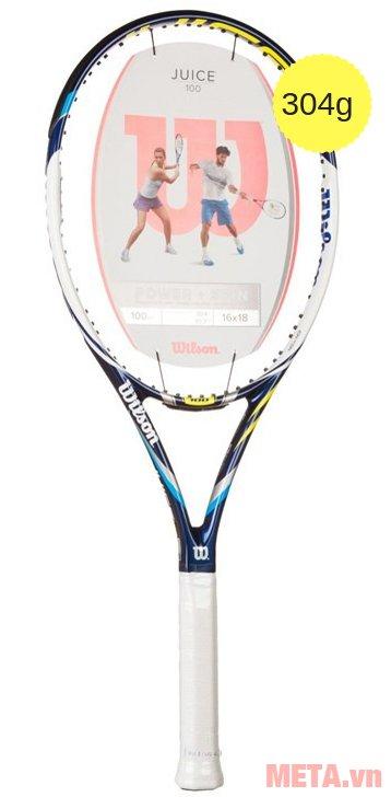 Vợt tennis Wilson Juice 100 BLX2 FRM 2 WRT7131102 màu trắng xanh