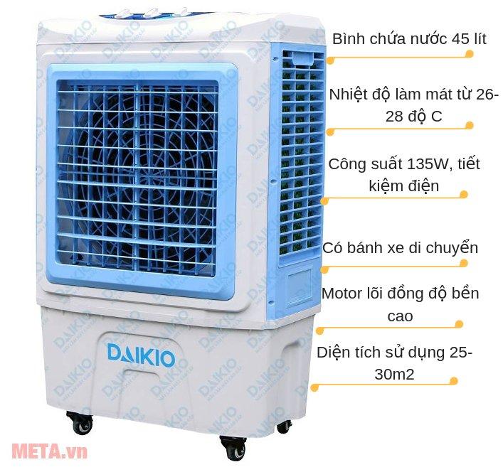Máy làm mát không khí Daikio DK-5000C có nhiều tính năng nổi trội