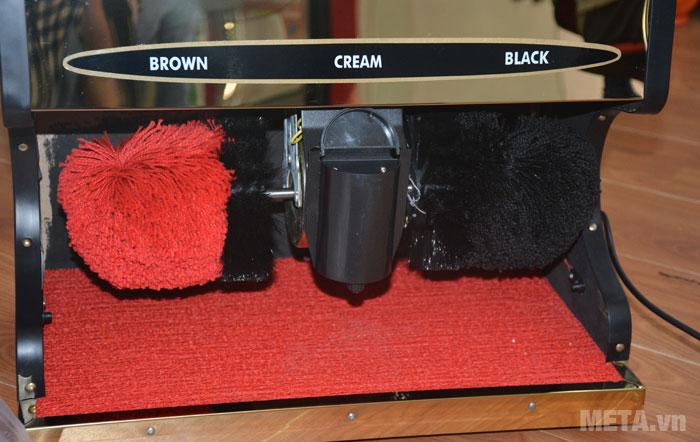 Máy đánh giầy Shiny SHN-G1 thiết ké hộp xi nằm chính giữa 2 bên chổi
