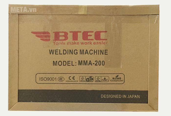 Hộp đựng của máy hàn inverter Btec MMA 200