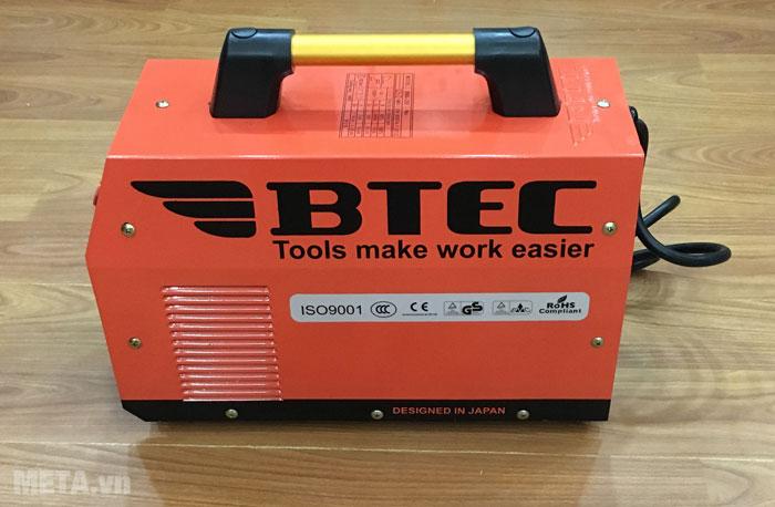 Máy hàn inverter Btec MMA 200 thiết kế theo công nghệ Nhật Bản