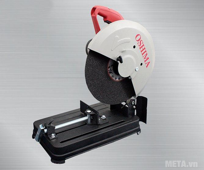 Máy cắt sắt Oshima MOD.OS2 có vành chắn bảo vệ lưỡi cắt