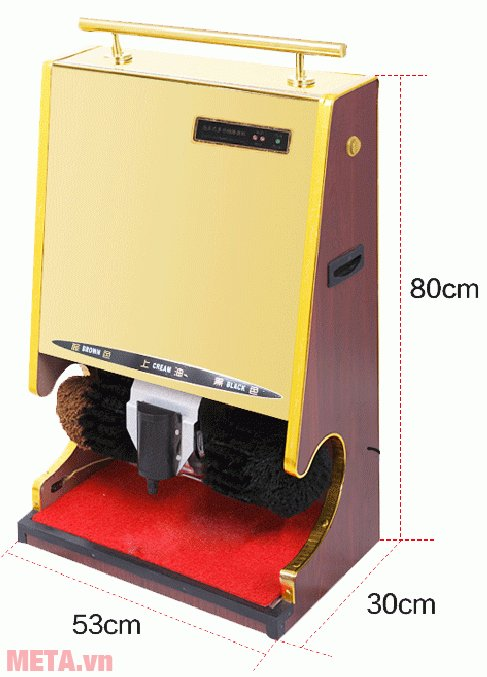 Máy đánh giày Sakura SKR-S1 có mô tơ vận hành khỏe sẽ giúp bạn làm sạch giày trong vòng 30 - 60 giây