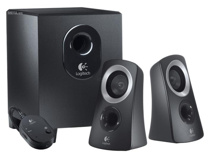 Loa Logitech Speaker System Z313 hỗ trợ điều khiển từ xa bằng dây