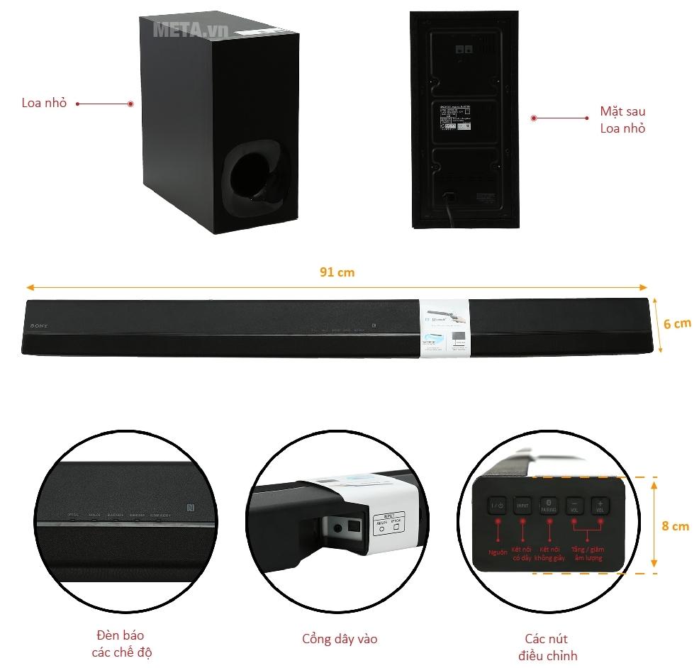 Bộ 2 loa Hifi HT-CT180 âm bass mở rộng cho chất lượng âm thanh chân thực nhất