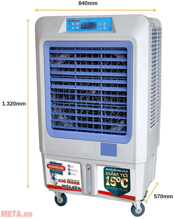 Máy làm mát không khí Sunhouse SHD7774 dùng cho phòng 60m2.