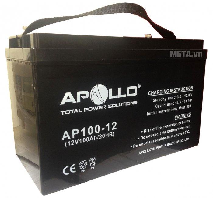 Ắc quy Apollo AP100-12 (100Ah - 12V) cho thời gian sử dụng lâu dài
