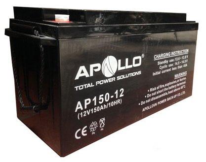 Ắc quy Apollo AP150-12 (150Ah-12V) có tuổi thọ thiết kế 10 - 12 năm