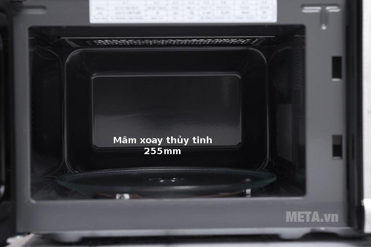 Lò vi sóng Electrolux EMS2027GX có mâm xoay với đường kính 255mm