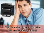 Nguyên nhân và cách khắc phục lỗi máy in không in được