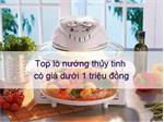 Top lò nướng thủy tinh có giá dưới 1 triệu đồng trổ tài ngày Tết