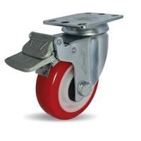 Combo 2 bánh xe đẩy PU xoay có phanh Ethos 273URY100P01 (100kg)