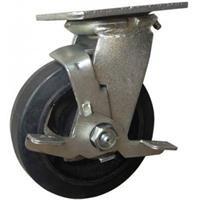 Combo 2 bánh xe đẩy cao su xoay có khóa Ethos 494XRQ100P45 (180kg)