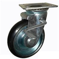 Combo 2 bánh xe đẩy cao su xoay có khóa Ethos 663PRZ075JB1 (120kg)