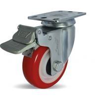 Combo 2 bánh xe đẩy PU xoay có phanh Ethos 273URY075P01 (90kg)
