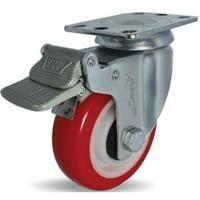 Combo 2 Bánh xe đẩy PU xoay có phanh Ethos 273URY125P01 (120kg) (273UBY125P01)