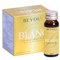 Nước uống đẹp da Collagen và Placenta Beyou Blanc (Hộp 6 chai 30ml)
