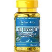 Dầu gan cá tuyết Puritan's Pride Cod Liver Oil 415 mg (1150 - hộp 100 viên)