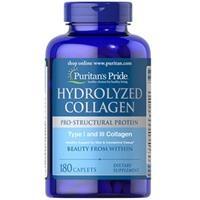 Viên uống bổ sung Collagen Puritan's Pride Hydrolyzed Collagen 1000mg (4596 - Hộp 180 viên)