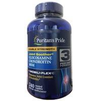 Viên uống hỗ trợ xương khớp Puritan's Pride Double Strength Glucosamine, Chondroitin & MSM Joint Soother® (27814 - hộp 240 viên)