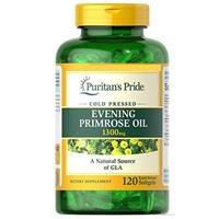 Viên uống tinh dầu hoa anh thảo Puritan's Pride Evening Primrose Oil 1300 mg with GLA (3233) Hộp 120 viên