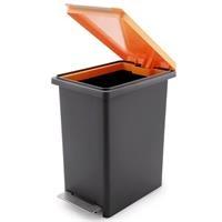 Thùng rác nhựa Compact X Fitis PPL1-905 - 20 lít (Đen cam)