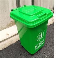 Thùng rác nhựa 30 lít, có 4 bánh xe (PL-30)