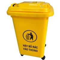 Thùng rác nhựa Ritabins 60 lít, có 4 bánh xe (PL-60)