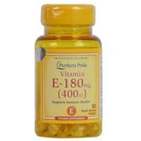 Viên uống bổ sung Vitamin E-400 IU Puritan's Pride (50858 - Hộp 50 Viên)