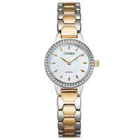 Đồng hồ nữ Citizen EZ7016-50D (Mặt xà cừ, viền đính Swarovski, kích thước mặt 24mm)