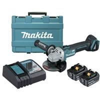 Máy mài góc dùng pin Makita DGA506RTE (125mm/công tắc trượt/BL) 18V