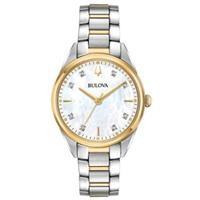 Đồng hồ nữ Bulova 98P184 (Kính Sapphire, mặt xà cừ, kích thước mặt 32mm)