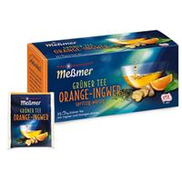 Trà xanh cam gừng túi lọc Green Tea Orange Ginger (Hộp 25 gói)