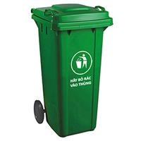 Thùng rác nhựa 120 lít, có 2 bánh xe (TR-120)