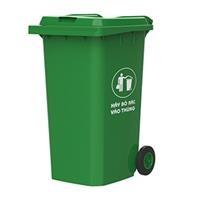 Thùng rác Duy Tân nắp kín 120 lít