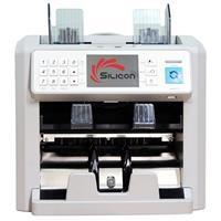 Máy đếm tiền siêu giả và phân loại tiền 2 ngăn Silicon MC8 Plus
