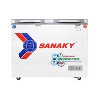 Tủ đông 2 ngăn đông và mát inverter Sanaky VH-4099W4K (280 lít, nắp kính xám)