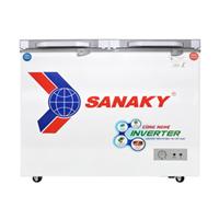 Tủ đông Sanaky 2 ngăn đông và mát VH-3699W4K (260 lít, nắp kính xám)