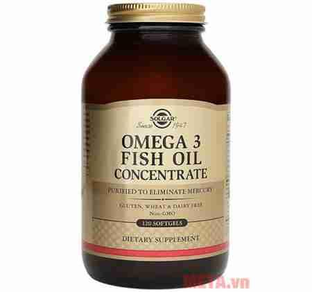 thuc pham bao ve suc khoe solgar omega 3 fish oil concentrate 120 vien 500